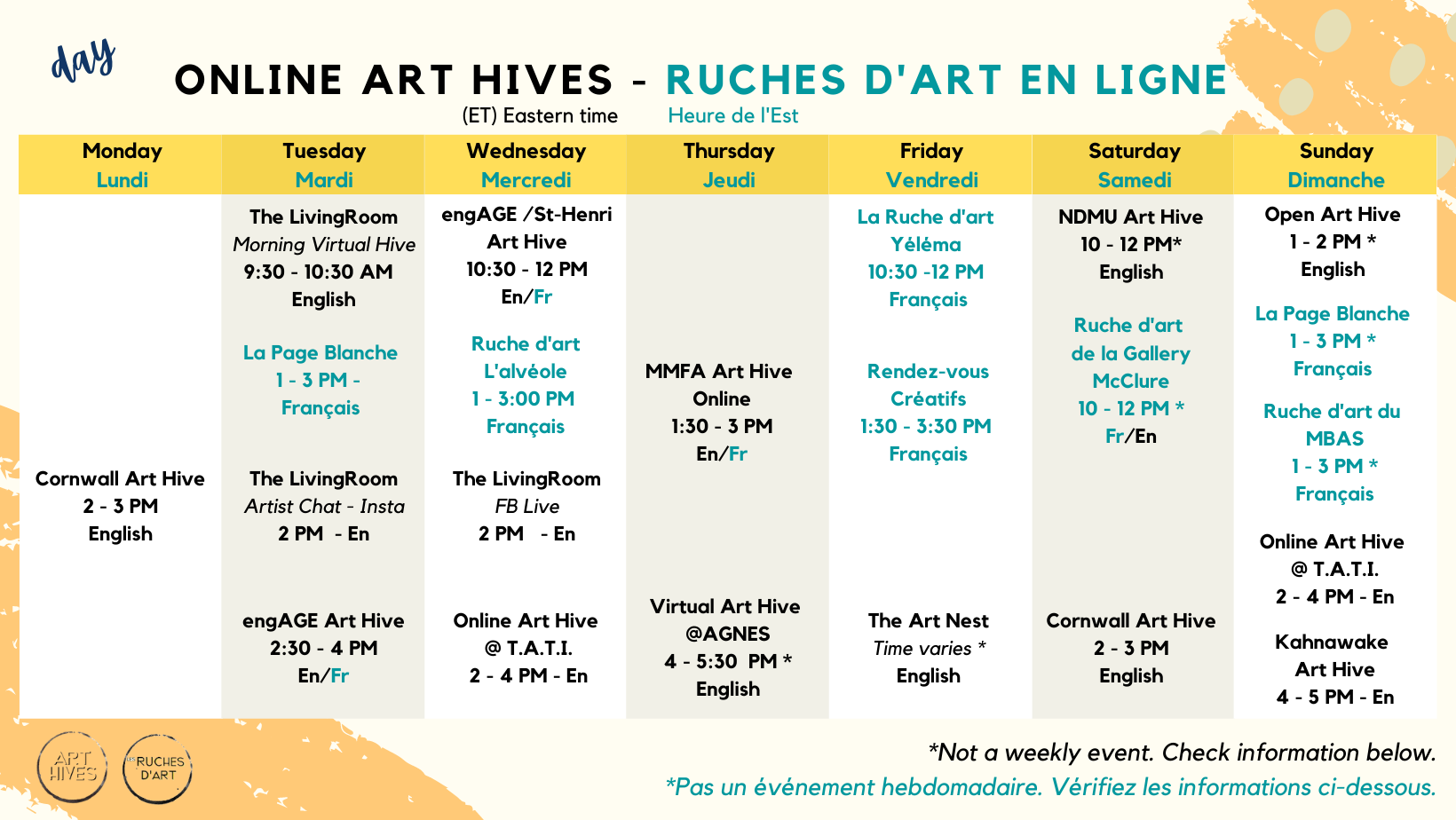 online art hives / day calendar