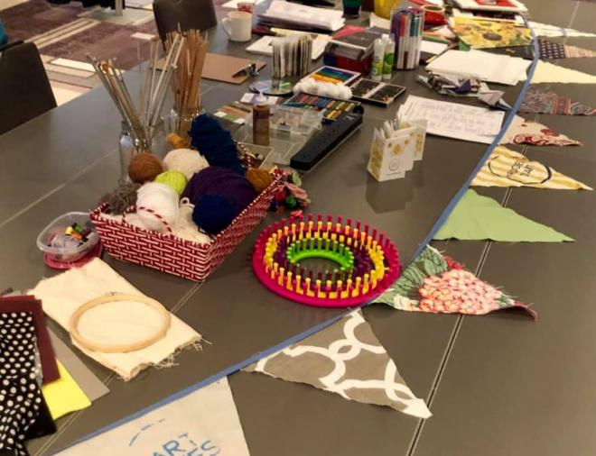 Around the Art Table (Art hives) at CAGP 26th National Conference on Strategic Philanthropy